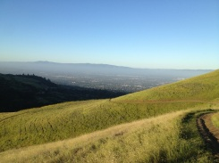 Nice view of the trail up to Boccardo Peak and the Silicon Valley