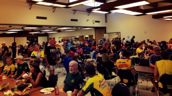 Post-Ride Pasta Feed! Lasagna was EXCELLENT!