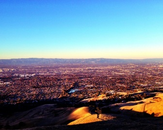 "Good morning Silicon Valley! (love that I can see my house from here...close enough to be ""far away""!)"