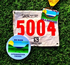 """Ultra coaster and finisher medal (with Gazos Loop """"proof"""" rubber band!)"""